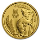 2020 Australia 1/10 oz Gold Lunar Mouse Proof (w/box & COA)