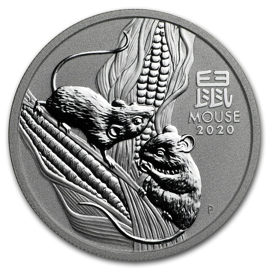 2020 Australia 1/2 oz Silver Lunar Mouse BU (Series III)