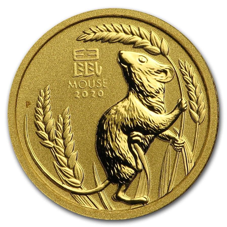 2020 Australia 1/20 oz Gold Lunar Mouse BU (Series 3)