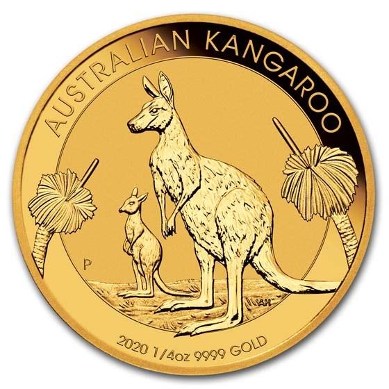 2020 Australia 1/4 oz Gold Kangaroo BU