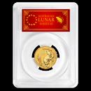 2020 Australia 1/4 oz Gold Lunar Mouse MS-70 PCGS (FS, Red Label)