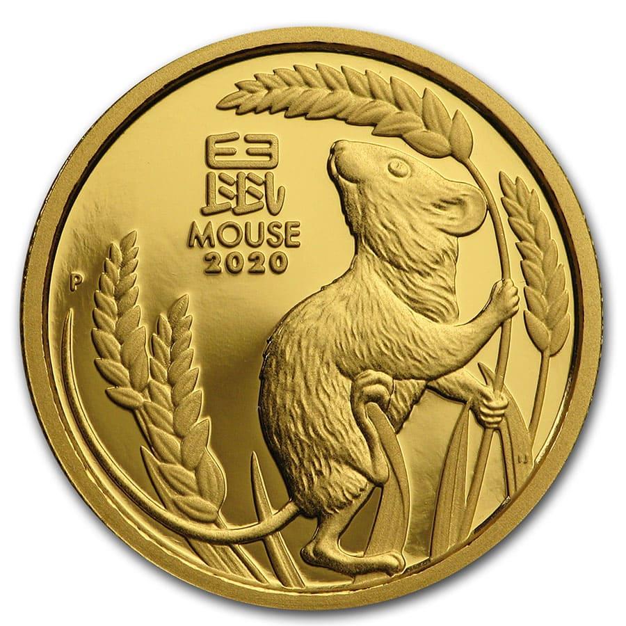 2020 Gold 1//4 oz Australia Perth Lunar Mouse