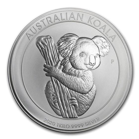 2020 Australia 1 kilo Silver Koala BU