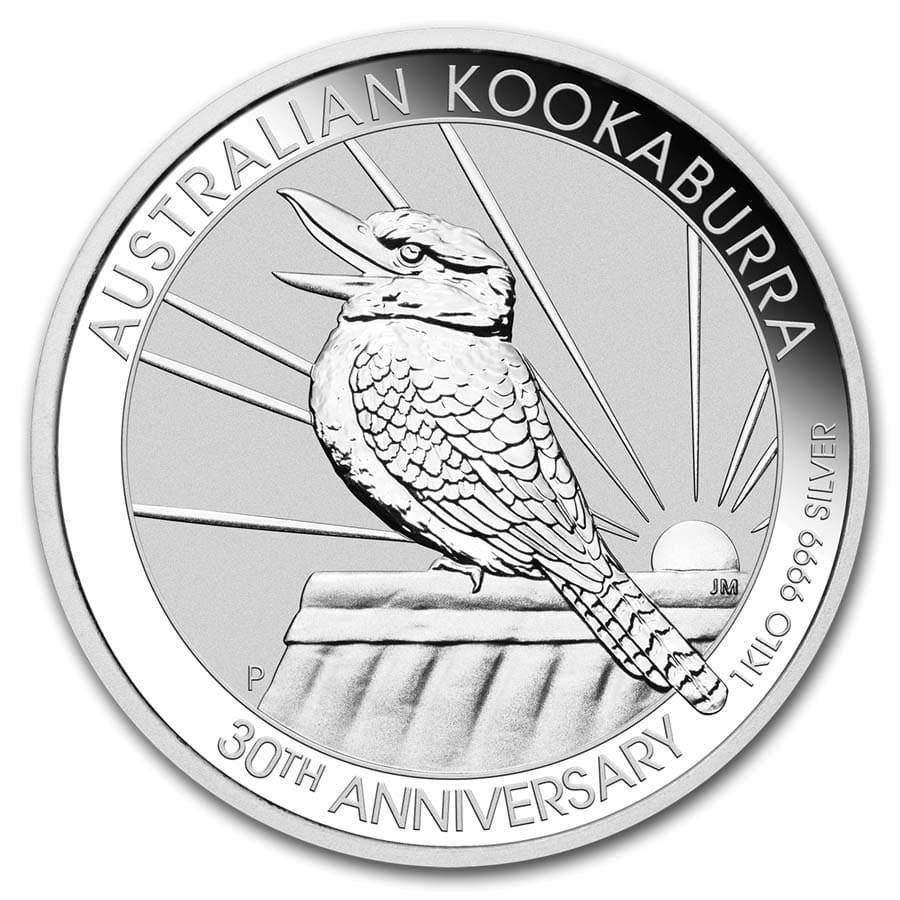 2020 Australia 1 kilo Silver Kookaburra BU