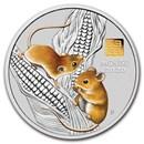 2020 Australia 1 kilo Silver Lunar Mouse BU (Gold Privy)