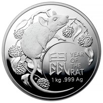 2020 Australia 1 Kilo Silver Lunar Year of the Rat Proof