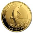 2020 Australia 1 oz Gold $100 Spinner Dolphin BU (w/Box & COA)