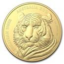 2020 Australia 1 oz Gold $100 Sumatran Tiger BU (w/Box & COA)
