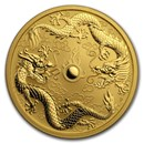 2020 Australia 1 oz Gold Double Dragon BU