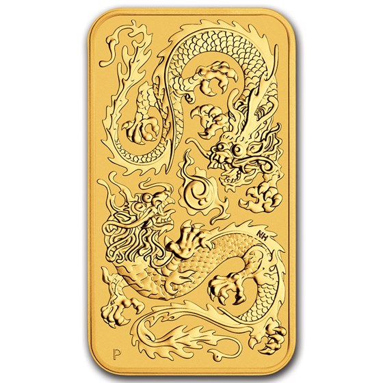 2020 Australia 1 oz Gold Dragon BU