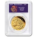 2020 Australia 1 oz Gold Dragon COA #6 PR-70 PCGS (FS)