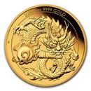 2020 Australia 1 oz Gold Dragon Proof (w/Box & COA)