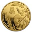 2020 Australia 1 oz Gold Lunar Mouse Proof (w/box & COA)