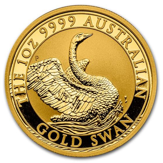 2020 Australia 1 oz Gold Swan BU