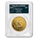 2020 Australia 1 oz Gold Swan MS-70 PCGS (FD, Swan Label)