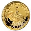 2020 Australia 1 oz Gold Swan Proof (HR, w/Box & COA)