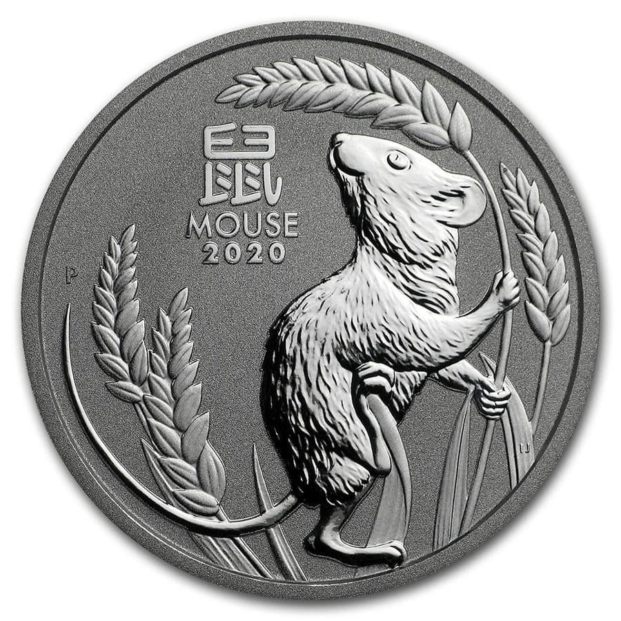 2020 Australia 1 oz Platinum Lunar Mouse BU (Series III)