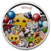 2020 Australia 1 oz Silver $1 emoji™ Celebration Proof