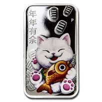 2020 Australia 1 oz Silver $1 Lucky Cat Proof