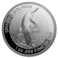 2020 Australia 1 oz Silver $1 Spinner Dolphin BU