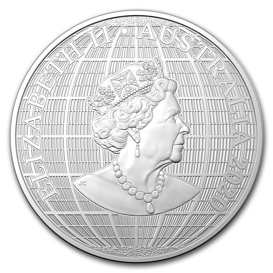 2020 Australia 1 oz Silver Beneath the Southern Sky BU