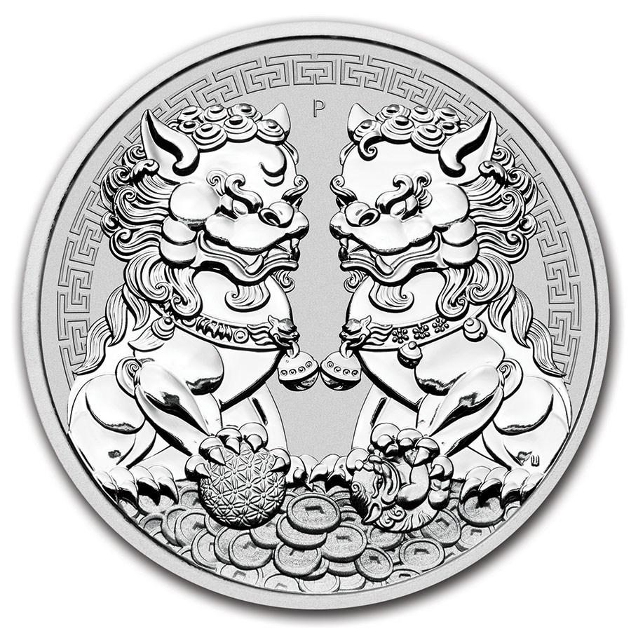 2020 Australia 1 oz Silver Double Pixiu BU