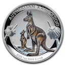 2020 Australia 1 oz Silver Kangaroo Colorized Proof (High Relief)