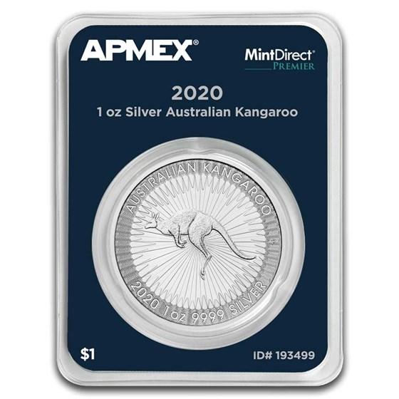 2020 Australia 1 oz Silver Kangaroo (MintDirect® Premier)