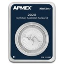 2020 Australia 1 oz Silver Kangaroo (MintDirect® Single)
