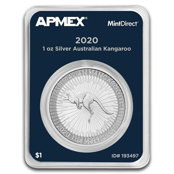 2020 Australia 1 oz Silver Kangaroo (MintDirect® Single)