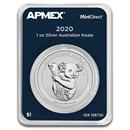 2020 Australia 1 oz Silver Koala (MintDirect® Single)