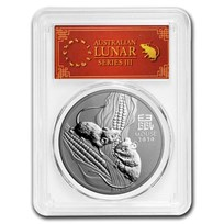 2020 Australia 1 oz Silver Lunar Mouse MS-70 PCGS (FD, Red Label)