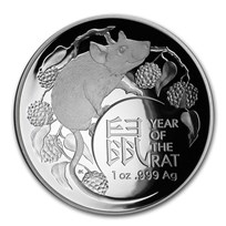 2020 Australia 1 oz Silver Lunar Year of the Rat Domed Proof