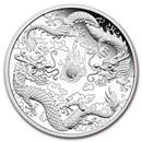 2020 Australia 1 oz Silver Proof Double Dragon