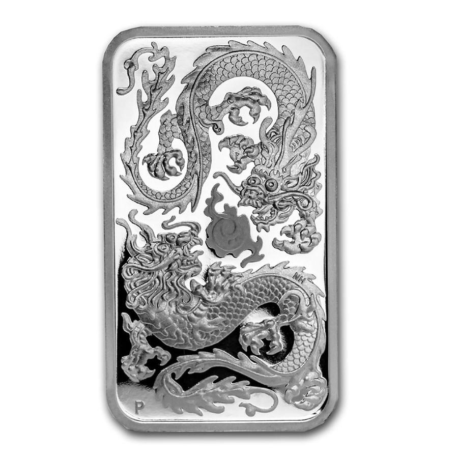 2020 Australia 1 oz Silver Rectangular Dragon Proof