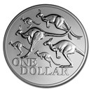 2020 Australia 1 oz Silver Red Kangaroo Frosted (in Capsule)
