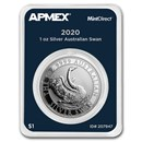2020 Australia 1 oz Silver Swan (MintDirect® Single)