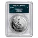 2020 Australia 1 oz Silver Swan MS-70 PCGS (FD, Swan Label)
