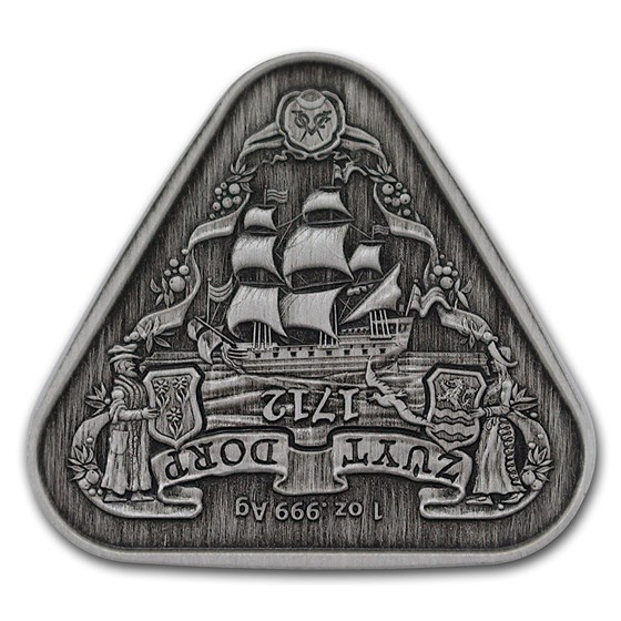 2020 Australia 1 oz Silver Zuytdorp Shipwreck Antiqued