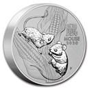 2020 Australia 10 kilo Silver Lunar Mouse BU (Series III)