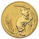 2020 Australia 10 oz Gold Lunar Mouse BU (Series 3)