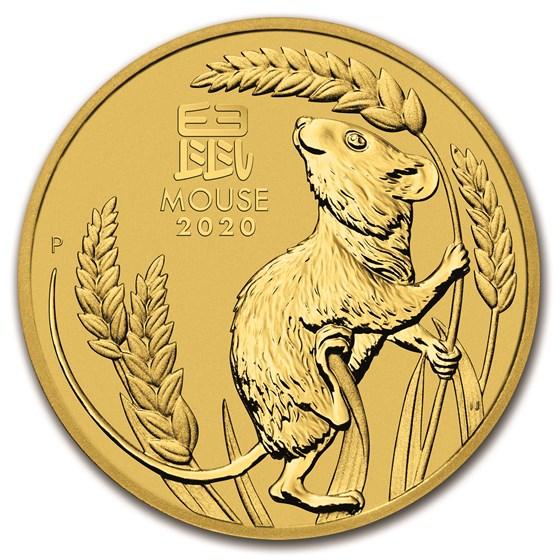 2020 Australia 10 oz Gold Lunar Mouse BU (Series 3)
