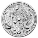 2020 Australia 10 oz Silver Dragon & Tiger BU