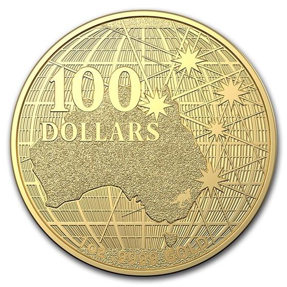 2020 Australia $100 1 oz Gold Beneath the Southern Sky BU