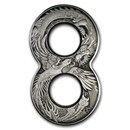 2020 Australia 2 oz Ag Figure Eight Dragon and Phoenix (Antiqued)