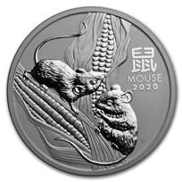 2020 Australia 2 oz Silver Lunar Mouse BU (Series III)