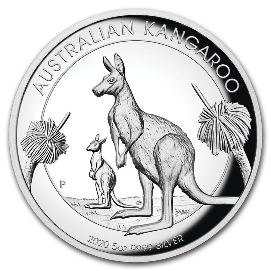 2020 Australia 5 oz Silver High Relief Kangaroo Proof