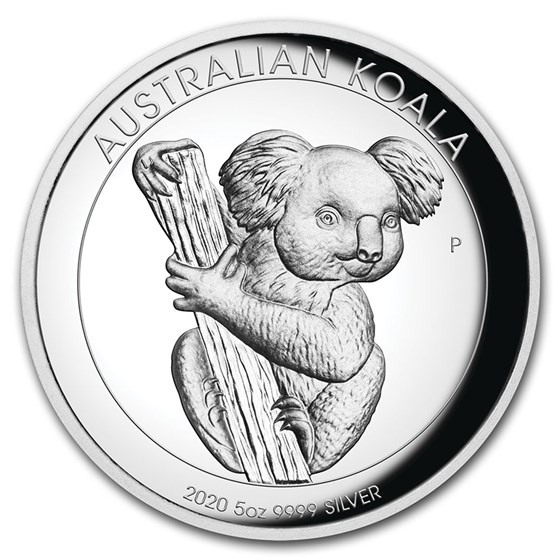 2020 Australia 5 oz Silver Koala Proof (High Relief, w/Box & COA)