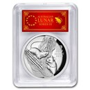 2020 Australia 5 oz Silver Mouse HR PR-70 DCAM (FS, Red Label)