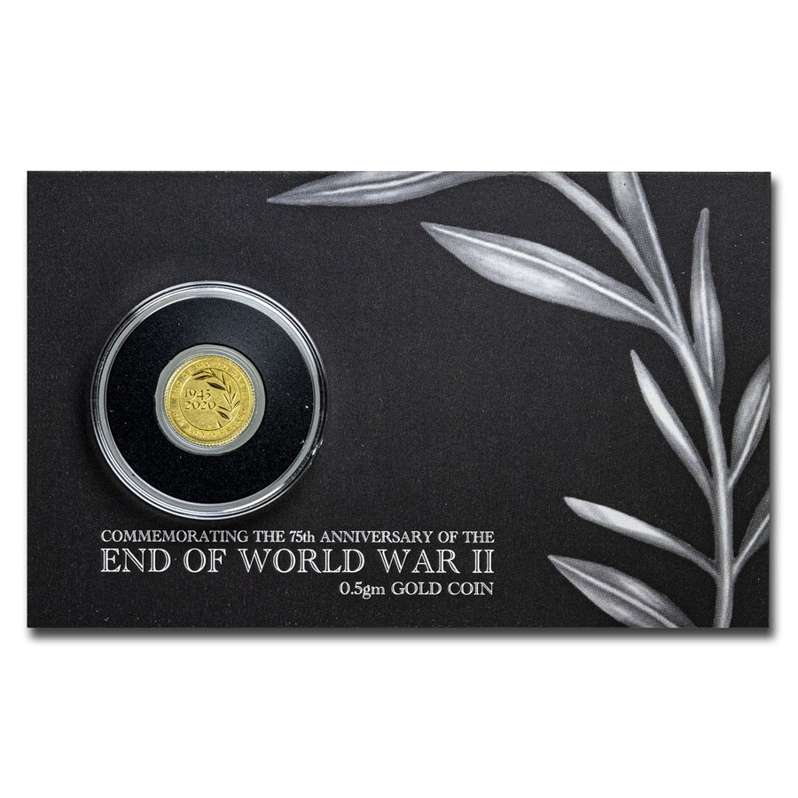 2020 Australia .5g Gold Silver Proof End of WWII (Assay Card)